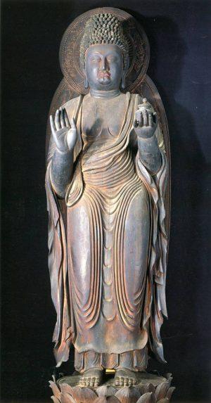 la-statue-de-yakushi-nyorai-temple-jingoji-a-kyoto